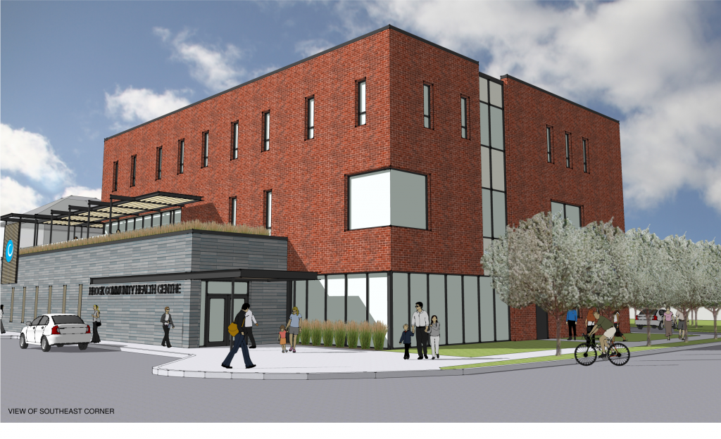 The new Brock Community Health Centre drawing